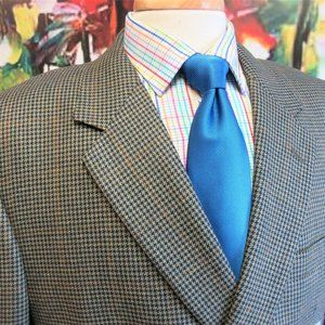 44 S JOS. A. BANK SILK/WOOL SPORT COAT HOUNDSTOOTH